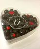 Valentine's Day Dark Chocolate Coffee Bean Heart Box by Ü Chocolate for the World