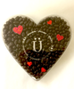 Top view of Valentine's Day Dark Chocolate Orange Peel Heart Box by Ü Chocolate for the World