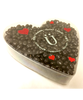 Valentine's Day Dark Chocolate Orange Peel Heart Box by Ü Chocolate for the World