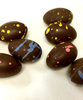Close up view of Petite Easter eggs by Ü Chocolate for the World