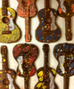 Variations on the Hand-painted acoustic guitar by Ü Chocolate for the World