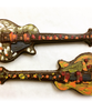 Detail view 1 of of the hand-painted electric guitar by Ü Chocolate for the World