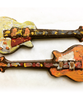 Detail view 2 of of the hand-painted electric guitar by Ü Chocolate for the World
