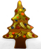 Milk Chocolate Hand-Painted Christmas Tree by Ü Chocolate for the World