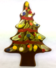 Dark Chocolate Hand-Painted Christmas Tree by Ü Chocolate for the World