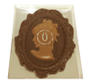 Boxed dark chocolate cameo.