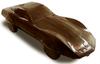 Dark chocolate Corvette Stingray with milk chocolate accents.