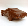 Milk chocolate Corvette Stingray, back left.