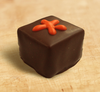 Orange Dream chocolate truffle by Ü Chocolate for the World