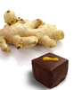 Generous amounts of ginger in the truffle by Ü Chocolate for the World