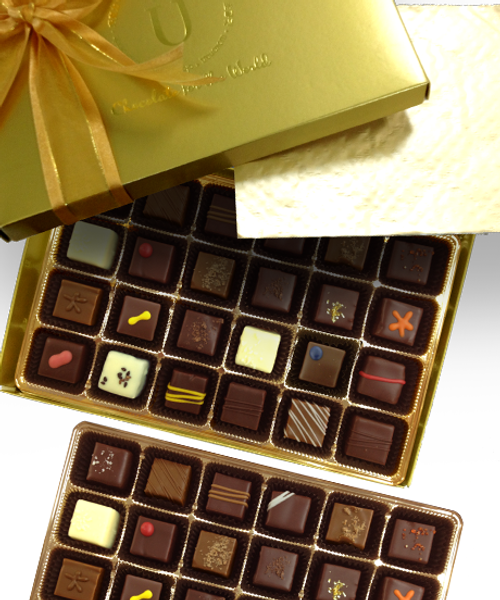 Introducing the Grandeur truffle box by Ü Chocolate for the World
