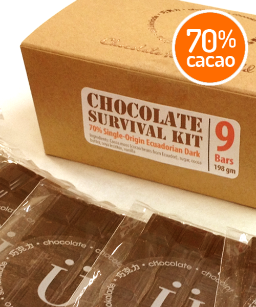 Introducing the Chocolate Survival Kit by Ü Chocolate for the World