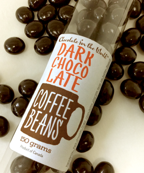 Introducing the Dark Chocolate Coffee Bean Tube Treat by Ü Chocolate for the World