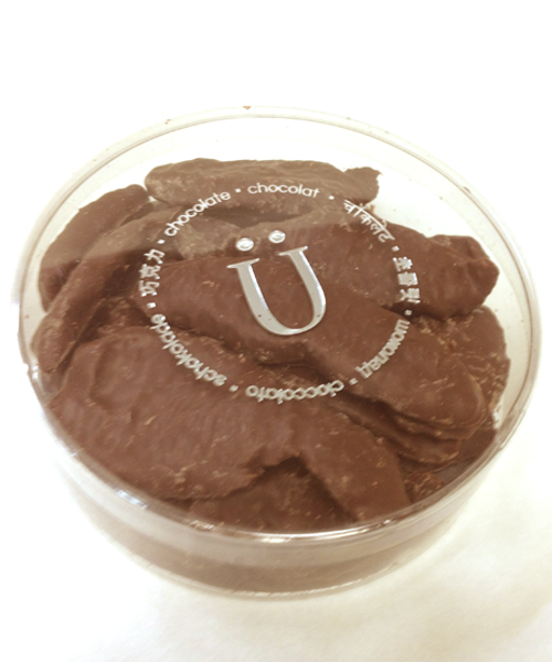 Introducing Dark Chocolate Candied Ginger (150 gm size) by Ü Chocolate for the World