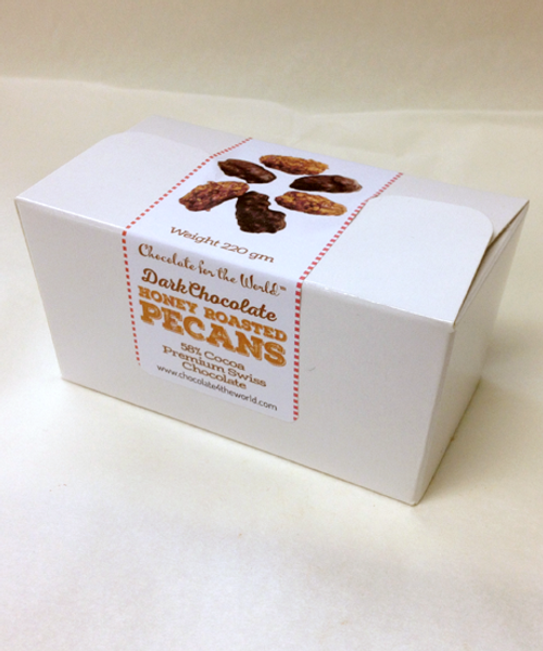 Introducing Dark Chocolate Honey Roasted Pecans by Ü Chocolate for the World