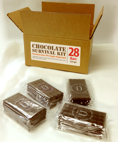 Introducing the Chocolate Survival Kit - Field Pack by Ü Chocolate for the World