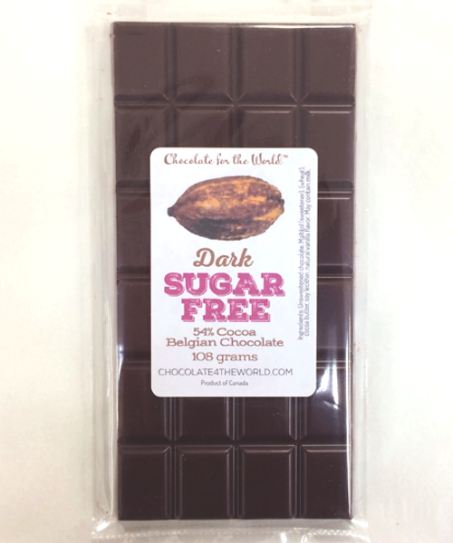 Sugar-Free Belgian Chocolate Bar by Ü Chocolate for the World