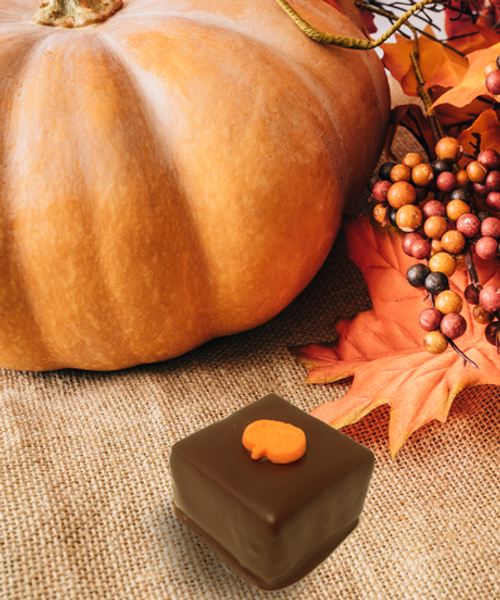 All the cinnamon goodness of pumpkin pie in a fine chocolate truffle! | Ü Chocolate for the World