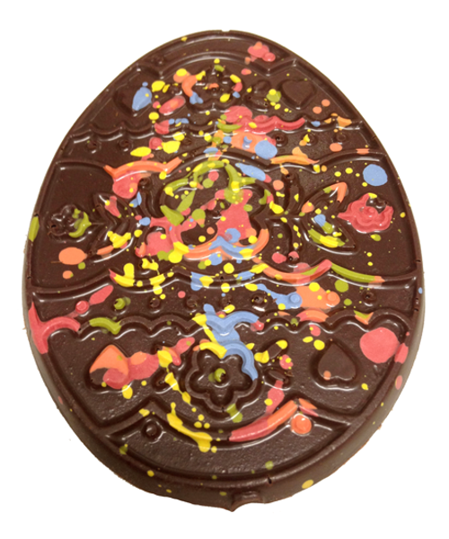 Detail of the Flat Easter Egg by Ü Chocolate for the World