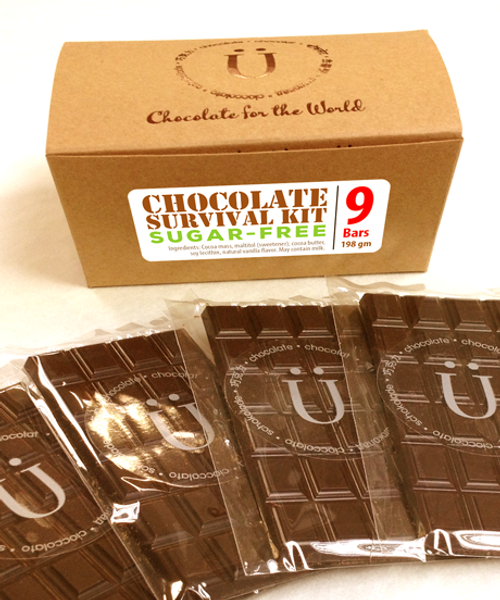Introducing the Sugar-Free Chocolate Survival Kit by Ü Chocolate for the World