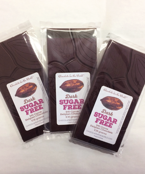 3 Sugar-Free Belgian Chocolate Bars by Ü Chocolate for the World