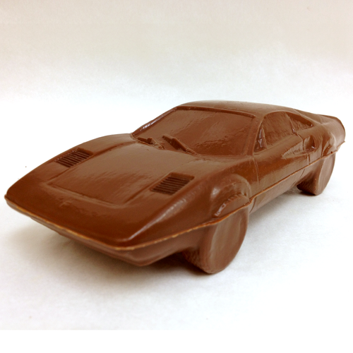 Milk chocolate Ferrari Testarossa.