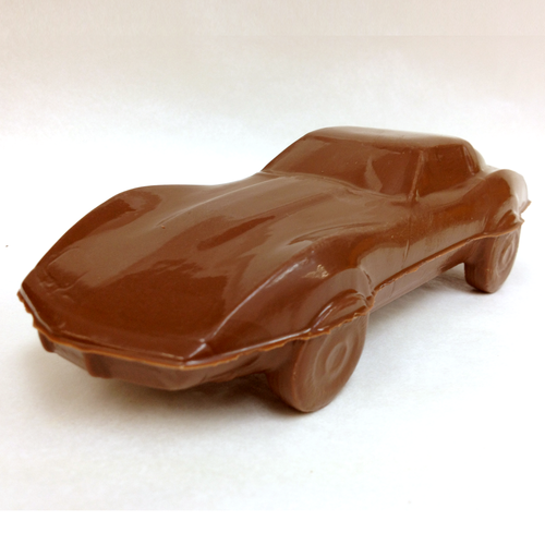 Milk chocolate Corvette Stingray.