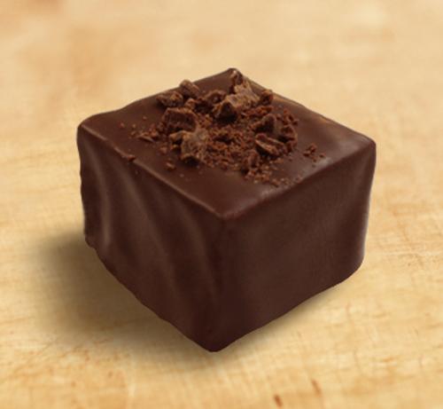 Dark chocolate truffle by Ü Chocolate for the World