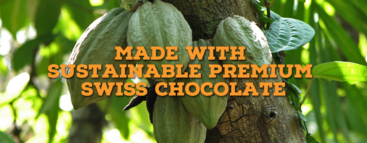 Learn more about the sustainability practices of the chocolate we use.