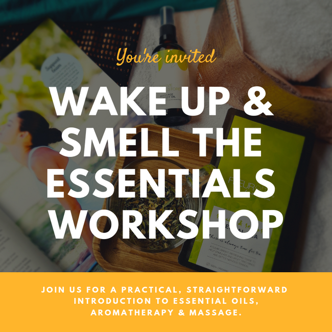 Aromatherapy + Massage Workshop - You're invited