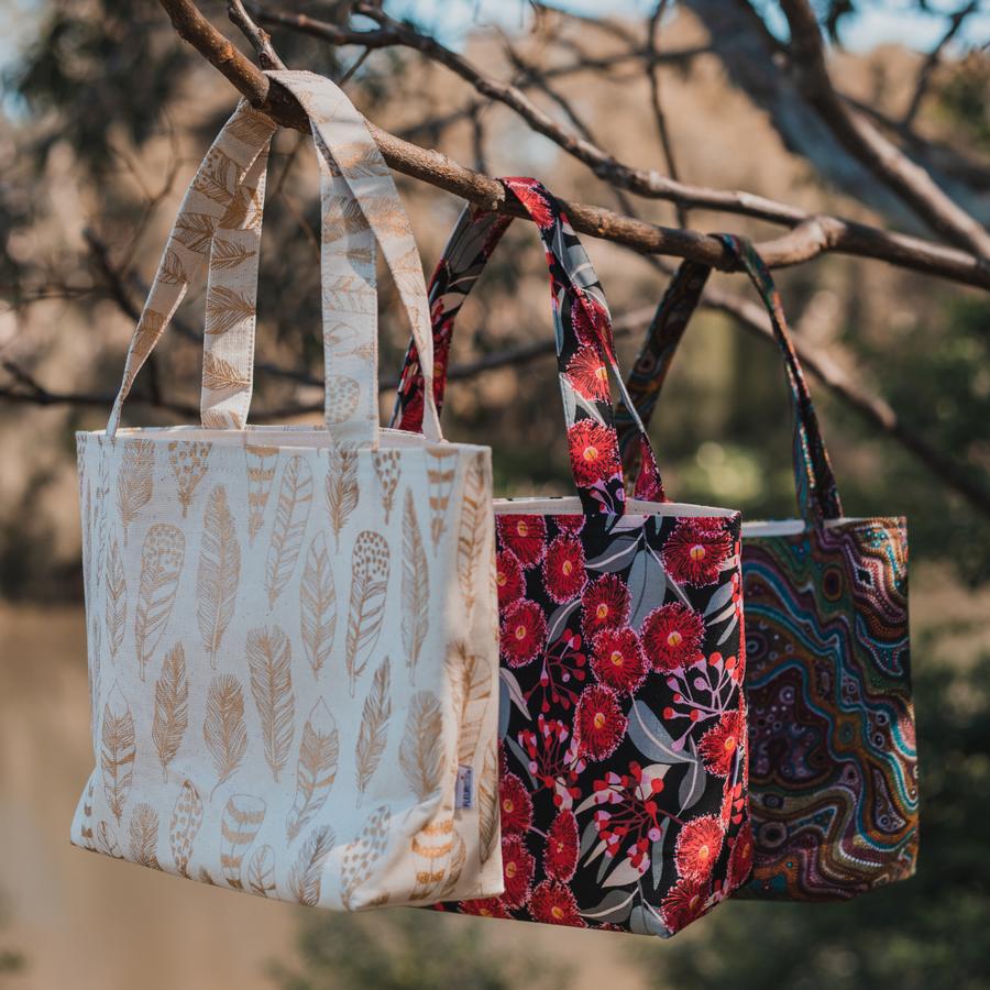Fleurette Cotton Tote Bag