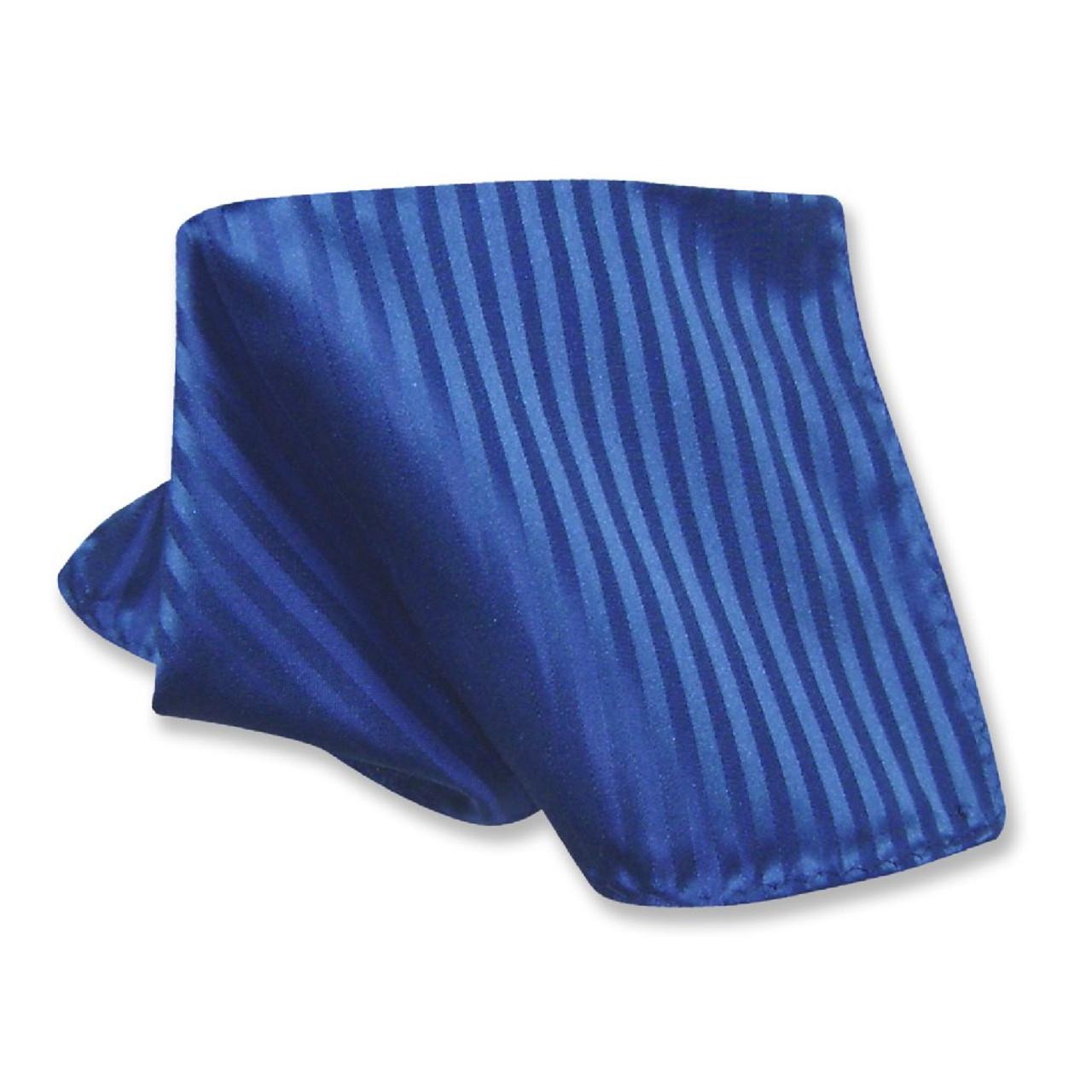 1e216e4385 Mens Dress Vest NeckTie Royal Blue Color Vertical Striped Neck Tie Set
