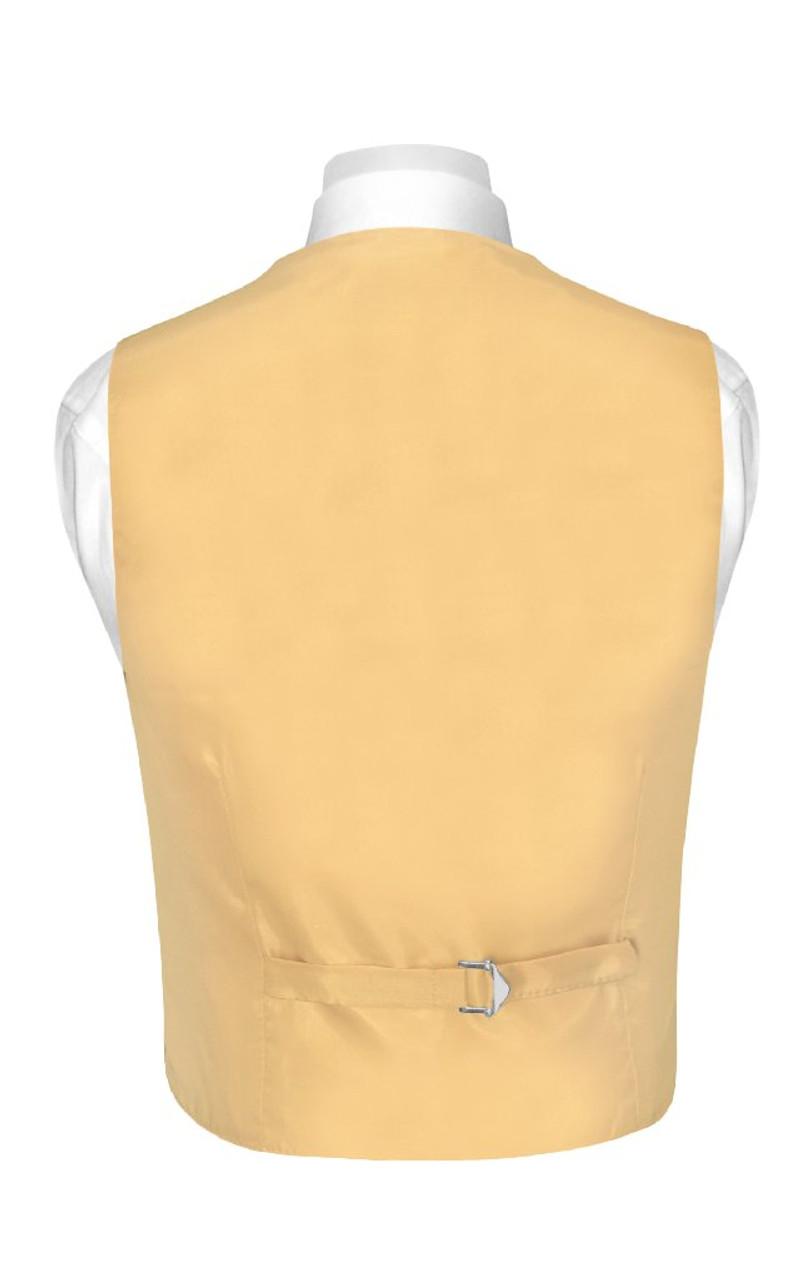 BOYS Dress Vest /& NeckTie Solid GOLD Color Neck Tie Set