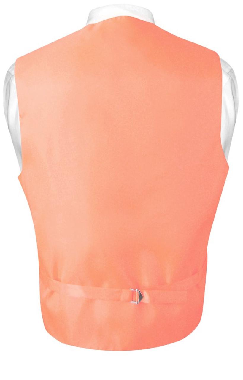 654821dd8646 Peach Vest   Mens Paisley Design Dress Vest & Bow Tie