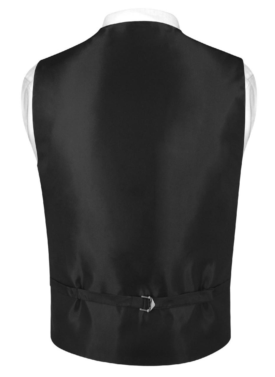 New Men/'s Vesuvio Napoli Paisley Tuxedo Vest Necktie Bowtie /& Hankie Dark Gray