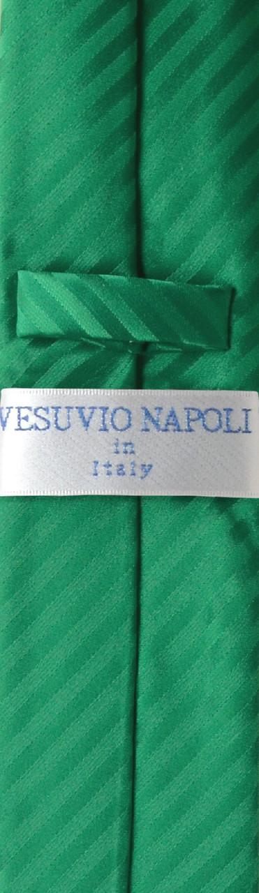 "New Vesuvio Napoli Men/'s 2.5/"" skinny Neck Tie /& Hankie set Stripes emerald green"