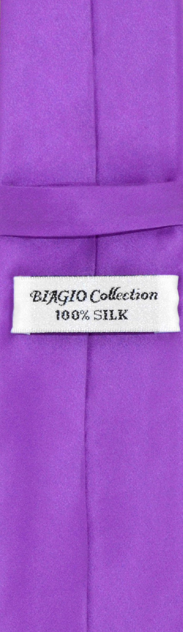 41b592e78d2e1 Purple Indigo Skinny Tie Handkerchief Set | Silk NeckTie Hanky Set