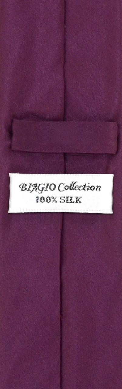 e7b718bc07372 Mens Eggplant Purple Skinny Tie Hanky Set | Silk Necktie Hanky Set