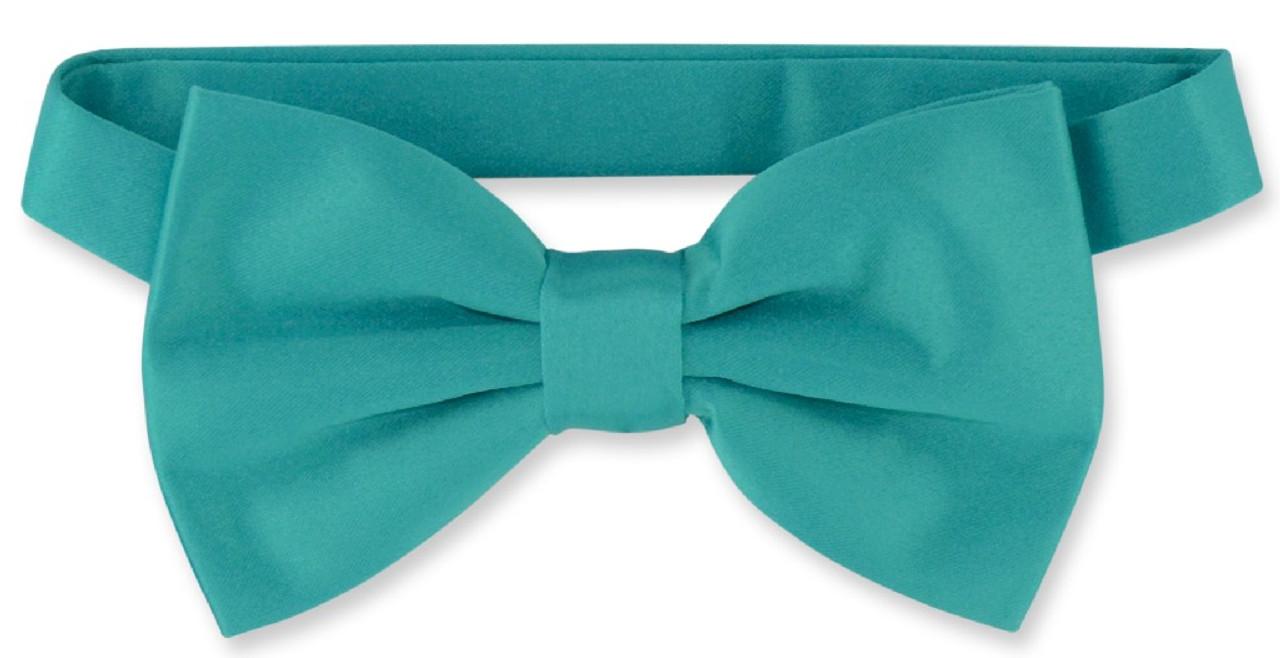 5d14c1f5037 Mens Dress Vest & BowTie Solid Teal Color Bow Tie Set