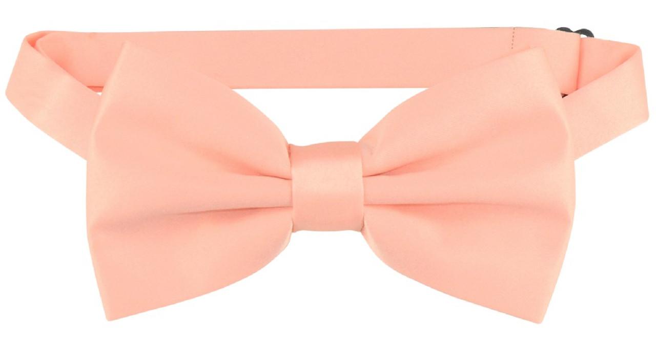 865f44abe035 Vesuvio Napoli BowTie Solid Peach Color Mens Bow Tie