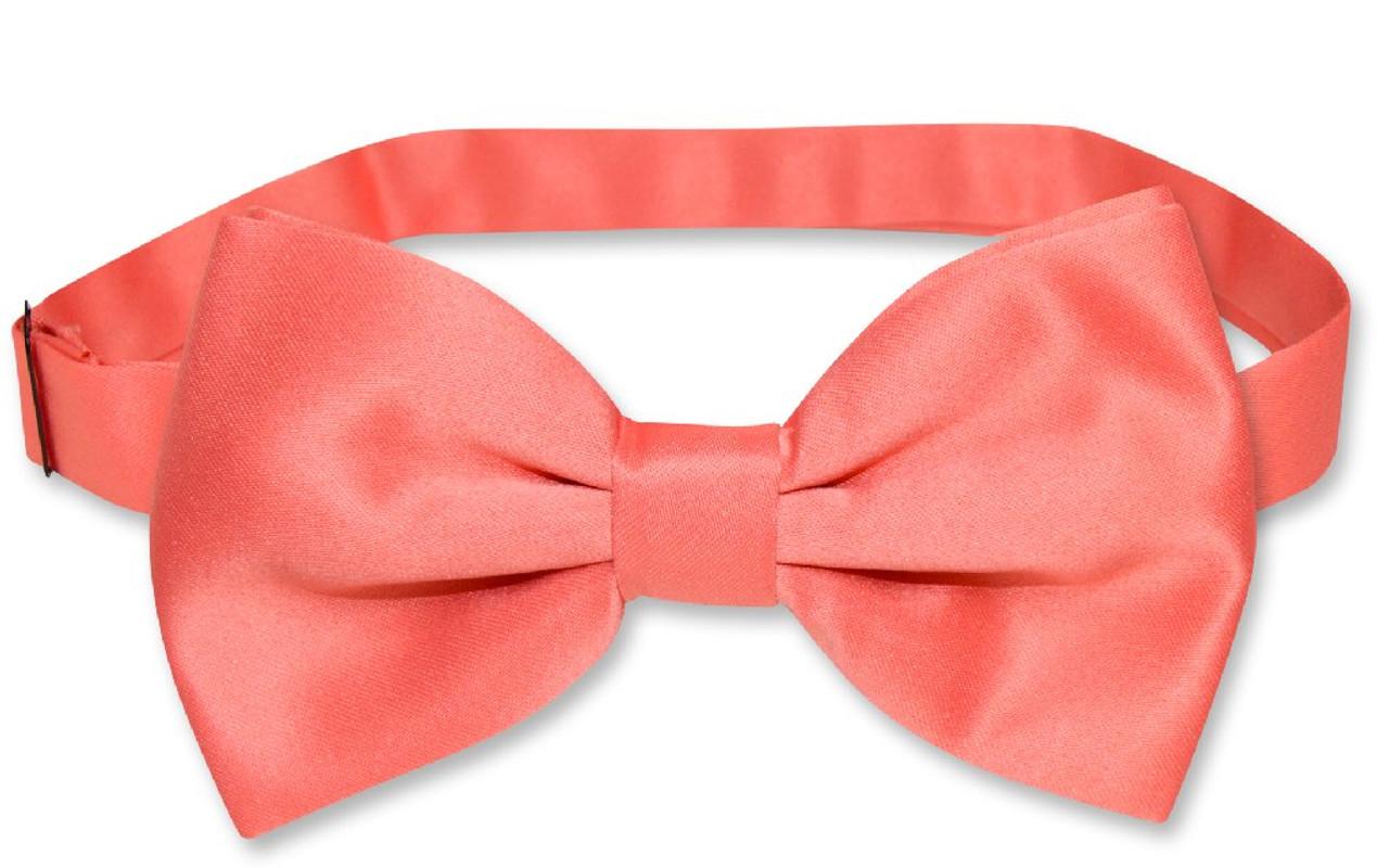 Vesuvio Napoli BOWTIE Red Paisley Color Mens Bow Tie for Tuxedo or Suit
