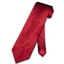 Dark Red Vest | Dark Red NeckTie | Silk Dark Red Vest Neck Tie Set