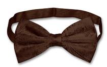 Vesuvio Napoli BowTie Dark Brown Paisley Color Mens Bow Tie