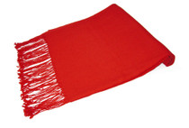 Biagio 100% Wool Pashmina Solid Scarf RED Color Women's Shawl Wrap Scarves