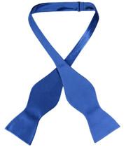 Biagio SELF TIE Bow Tie Solid ROYAL BLUE Color Men's BowTie