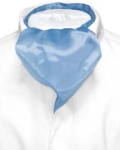 Baby Blue Cravat Tie   Biagio Ascot Solid Color Mens NeckTie