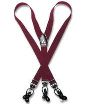 Burgundy Suspenders | Convertible Button / Clip Suspenders For Men