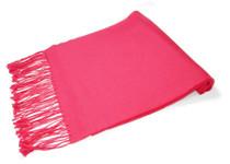 Hot Pink Fuchsia Pashmina | Biagio 100% Wool Pashmina Scarf