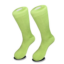 1 Pair of Biagio Solid LIME GREEN Color Men's COTTON Dress SOCKS