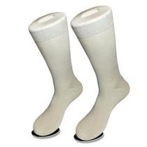 Solid Silver Grey Mens Socks | 1 Pair of Biagio Cotton Dress Socks